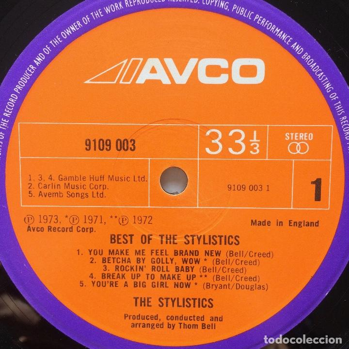 Discos de vinilo: The Stylistics /The Best Of The Stylistics 1974 uk - Foto 3 - 107595919