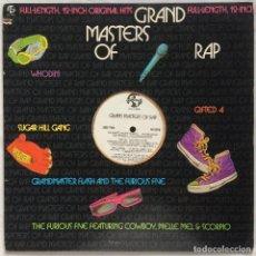 Discos de vinilo: GRAND MASTERS OF RAP - US - 1985. Lote 107602939
