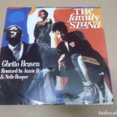 Discos de vinilo: THE FAMILY STAND (MX) GHETTO HEAVEN +2 TRACKS AÑO 1990 – EDICION U.K.. Lote 107603059