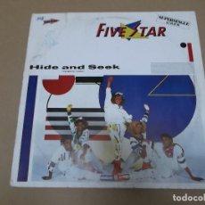 Discos de vinilo: FIVE STAR (MX) HIDE AND SEEK +2 TRACKS AÑO 1984. Lote 107604071