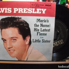 Discos de vinilo: ELVIS PRESLEY LITTLE SISTER / THE NAME ..... SINGLE 1985 PEPETO TOP . Lote 107607143