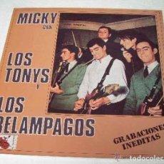 Discos de vinilo: MICKY Y LOS TONYS CON LOS RELAMPAGOS, GRABACIONES INEDITAS ALLIGATOR 1984. Lote 107608159