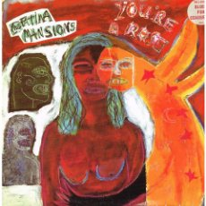 Discos de vinilo: THE FATIMA MANSIONS - YOU'RE A ROSE / BLUES FOR CEAUSESCU / ONLY LOSERS TAKE THE BUS-MAXISINGLE 1991. Lote 107636143
