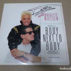 Discos de vinilo: FALCO MEETS BRIGITTE NIELSEN (MX) BODY NEXT TO BODY +2 TRACKS AÑO 1987. Lote 107651183