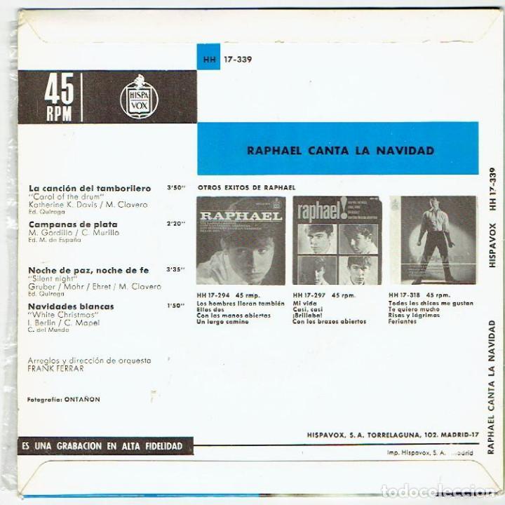 Discos de vinilo: RAPHAEL CANTA LA NAVIDAD - Foto 2 - 107660335