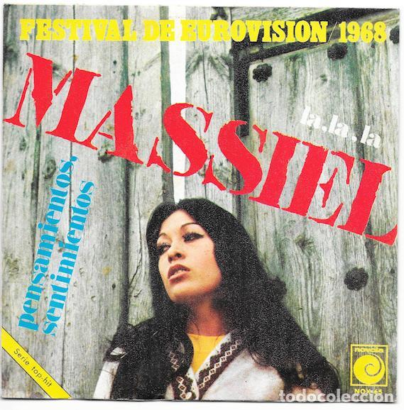 MASSIEL_FESTIVAL DE EUROVISION_LA,LA,LA_PENSAMIENTOS,SENTIMIENTOS_SINGLE 7''_1968_NUEVO!!! (Música - Discos de Vinilo - Maxi Singles - Festival de Eurovisión)