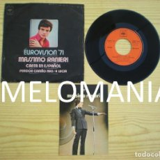 Discos de vinilo: MASSIMO RANIERI_CANTA EN ESPAÑOL_SINGLE 7'' + POSTAL PROMOCIONAL DISCOGRAFICA CBS_1971_MUY RARO!!!!. Lote 107662583