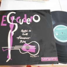 Discos de vinilo: VICENTE ESCUDERO-LP RECITAL DE CANTE FLAMENCO PURO. Lote 107664919