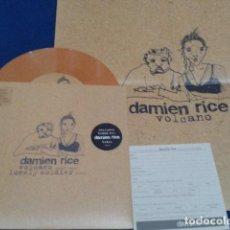 Discos de vinilo: DAMIEN RICE ( VOLCANO , LONELY SOLDIER ) 2005 FLOOR EDICION LIMITADA NUMERADA VINILO COLOR + POSTER . Lote 107673411