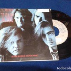 Discos de vinilo: COMITE CISNE ( SI ME QUEDO ESPERANDO , ROSA DEL DESIERTO ) BMG 1991 SINGLE PROMO. Lote 107674043