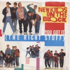 Discos de vinilo: NEW KIDS ON THE BLOCK_YOU GOT IT (THE RIGHT STUFF)_VINILO SINGLE 7''_EDICION UK_1989. Lote 107705967