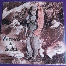 Discos de vinilo: POEMAS DE INDIA SG COLUMBIA NIÑO DE LAS MONTAÑAS/ CANTO DE NIÑO INDIO MATILDE CONESA CARMEN MENDOZA. Lote 107753631