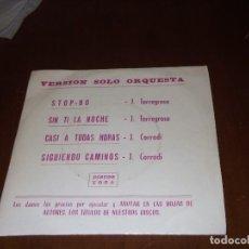 Discos de vinilo: J. TORREGOSA - STOP 80 + 3 - EP YOGA 1974// GROOVE YE YE BEAT SCAT SANTISTEBAN ALGUERO-RARE!!. Lote 107753935