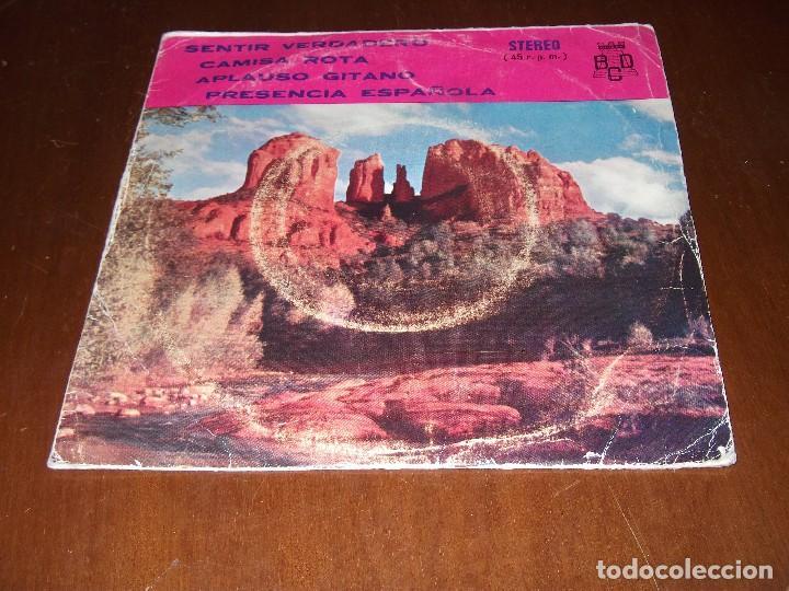 JULIO LLORENTE, SENTIR VERDADERO, EP BCD 1975, PROMOCIONAL, (Música - Discos de Vinilo - EPs - Grupos Españoles de los 70 y 80)