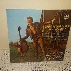 Discos de vinilo: EP JOHNNY HALLIDAY QUAND REVIENT LA NUIT. Lote 107768635
