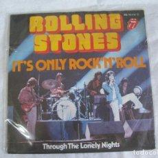Discos de vinilo: ROLLING STONES IT'S ONLY ROCK N ROLL-SINGLE ALEMAN RARO!!!!. Lote 107830939