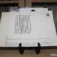 Discos de vinilo: STEVIE NICKS -SG- I CANT EAIT SPAIN 80'S + HOJAS RADIO PROMOCIONAL. Lote 107838563