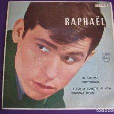 Discos de vinilo: RAPHAEL EP PHILIPS 1962 TU CUPIDO/ INMENSIDAD/ TE VOY A CONTAR MI VIDA/ PERDONA OTELO . Lote 107868367