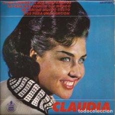 Discos de vinilo: EP-CLAUDIA A MIS AMIGOS Y A MIS COMPAÑEROS HISPAVOX 17322 SPAIN 1965. Lote 107874635