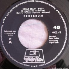 Dischi in vinile: CEREBRUM - EAGLE DEATH/READ A BOOK - SINGLE DIMENSION 1970 (SIN CARPETA). Lote 107895651