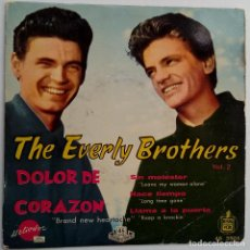 Disques de vinyle: THE EVERLY BROTHERS- DOLOR DE CORAZON (BRAND NEW HEARTACHE)- SPAIN EP 1959-VINILO EXCELENTE ESTADO.. Lote 107896943