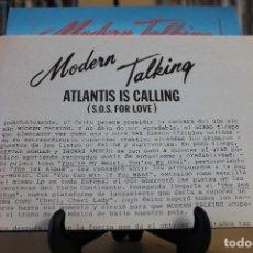 Discos de vinilo: MODERN TALKING -SG- ATLANTIC IS CALLING 80'S PROMO + HOJAS RADIO. Lote 107899547