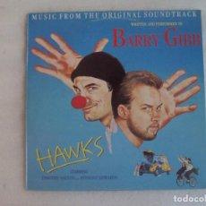 Discos de vinilo: BARRY GIBBS (BEE GEES) HAWKS, BSO. LP EDICION ESPAÑOLA 1988, POLYGRAM IBERICA. NUEVO.. Lote 107914851