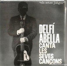 Discos de vinilo: EP DELFI ABELLA CANTA LES SEVES CANÇONS : CAP EL FUTBOL + 3 . Lote 107940423