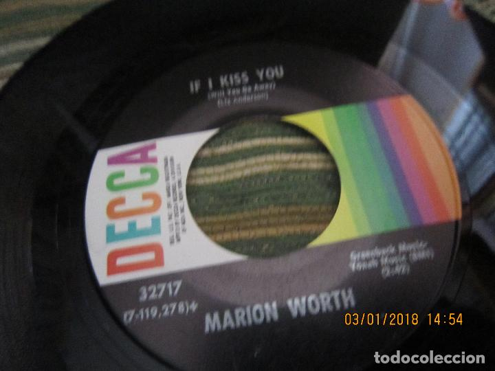 Discos de vinilo: MARION WORTH - IF I KISS YOU / JUST LEAVE IT ALONE SINGLE ORIGINAL U.S.A.- DECCA 1970 MUY NUEVO(5) - Foto 9 - 107977531