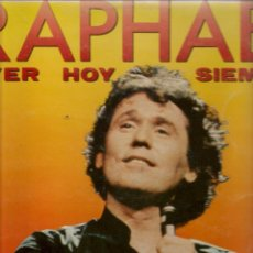 Discos de vinilo: DISCOS LP: RAPHAEL, AYER, HOY, SIEMPRE. DOBLE CARPETA. 2 DISCOS (ST/C2). Lote 107987771