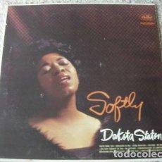 Discos de vinilo: DAKOTA STATON / SOFTLY 1960 / BENNY CARTER ORCHESTRA !! ORIG USA EDT !!. Lote 107998887