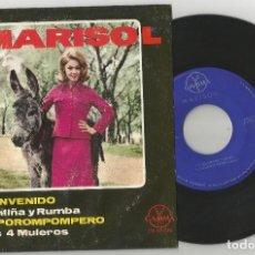 Discos de vinilo: MARISOL: BIENVENIDO + CANTIÑA Y RUMBA LOS 4 MULEROS + 1, EDICIÓN MEXICANA. Lote 108011243