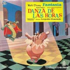 Discos de vinilo: WALT DISNEY FANTASIA - EP DE VINILO Nº 1 - DANZA DE LAS HORAS . Lote 108013783