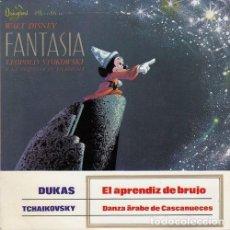 Discos de vinilo: WALT DISNEY FANTASIA - EP DE VINILO Nº 3 - EL APRENDIZ DE BRUJO. Lote 108013907