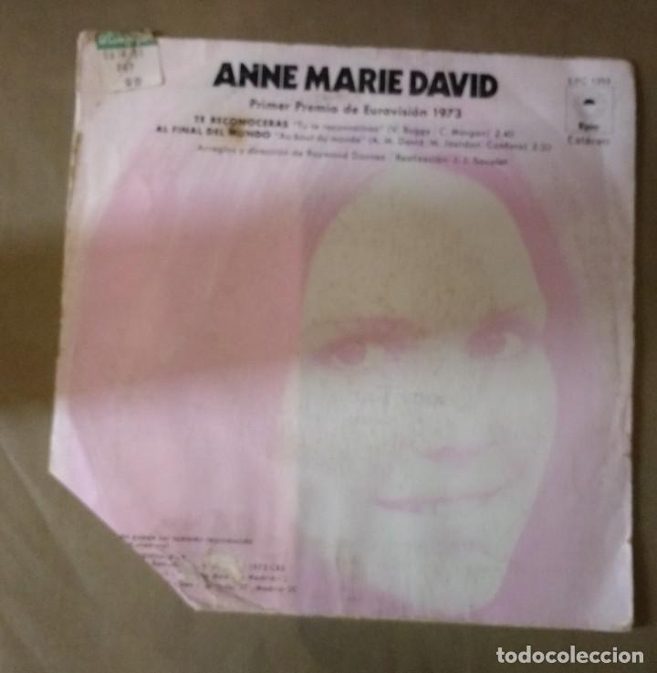 Discos de vinilo: ANNE MARIE DAVID - TE RECONOCERÁS 1º PREMIO EUROVISIÓN - Foto 3 - 108018395