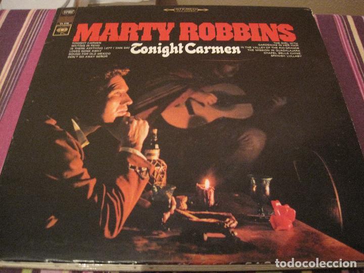 LP-MARTY ROBBINS TONIGHT CARMEN COLUMBIA 2725 USA 196???? COUNTRY (Música - Discos - LP Vinilo - Country y Folk)
