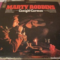 Discos de vinilo: LP-MARTY ROBBINS TONIGHT CARMEN COLUMBIA 2725 USA 196???? COUNTRY. Lote 108050539