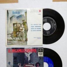 Discos de vinilo: 2 SINGLES BENITO VELA. EL ORGANILLO ESPAÑOL. EP / EMI-REGAL - 1965. Y ANTONIO APRUZZECE Y SU ORGANO. Lote 108051819