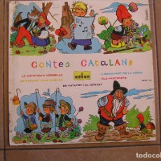 Discos de vinilo: CONTES CATALANS - LA CAPUCHETA VERMELLA - ODEON 1963 - LP - P. Lote 108054799