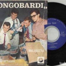 Discos de vinilo: I LONGOBARDI SINGLE NOTTURNO - MALAGUEÑA ITALIA 1965-RAREZA. Lote 108080591