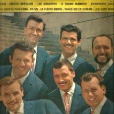 Discos de vinilo: LP 10 PULGADAS : LES HOMMES (LOIN, AMOUR BRASILIEN, LES BRAVADOS, ETC) FIRMADO POR EL GRUPO. Lote 108125403