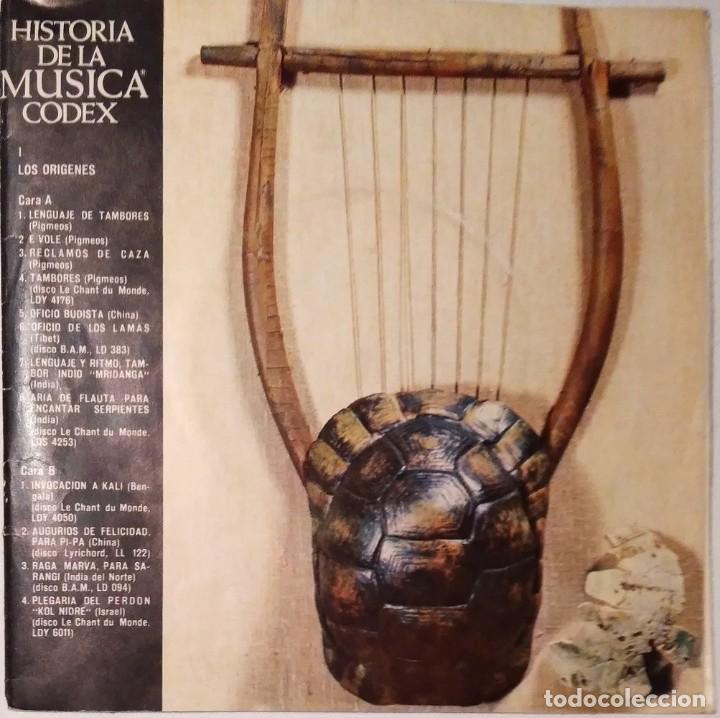 HISTORIA DE LA MÚSICA CÓDEX 1965 (Música - Discos - Singles Vinilo - Clásica, Ópera, Zarzuela y Marchas)