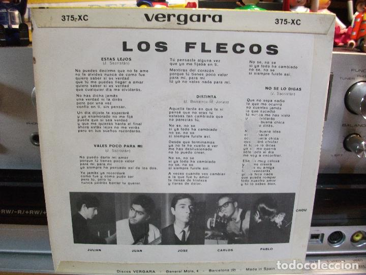 Discos de vinilo: LOS FLECOS DISTINTA/ ESTAS LEJOS + 2 EP SPAIN 1965 PEPETO TOP - Foto 2 - 108236311