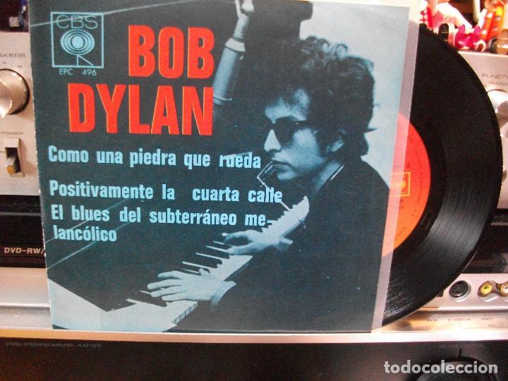 BOB DYLAN COMO UNA PIEDRA QUE RUEDA + 2 EP MEJICO PEPETO TOP (Música - Discos de Vinilo - EPs - Country y Folk)