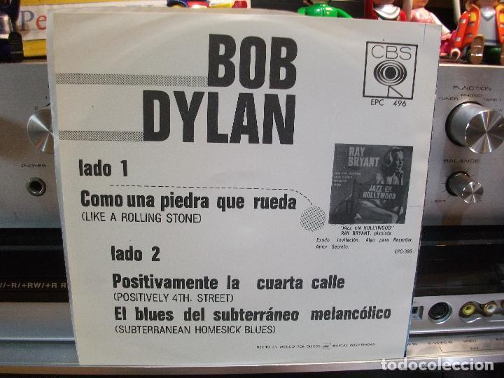 Discos de vinilo: BOB DYLAN COMO UNA PIEDRA QUE RUEDA + 2 EP MEJICO PEPETO TOP - Foto 2 - 108236835