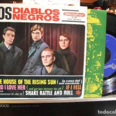 Discos de vinilo: LOS DIABLOS NEGROS AND I LOVE HER / IF I FELL + 2 EP SPAIN 1964 PEPETO TOP . Lote 108237551