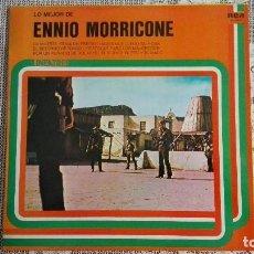 Discos de vinilo: LO MEJOR DE ENNIO MORRICONE, LINEA TRES. RCA, 1977. Lote 108244255