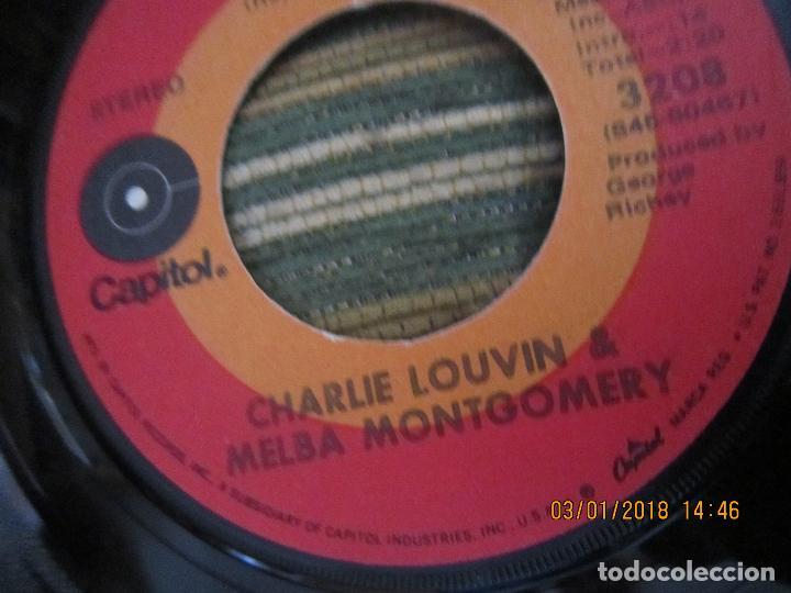 Discos de vinilo: CHARLIE LOUVIN & MELBA MONTGOMERY - WHEN I STOP DREAMING SINGLE U.S.A. -CAPITOL 1971 - STEREO - - Foto 6 - 108244311