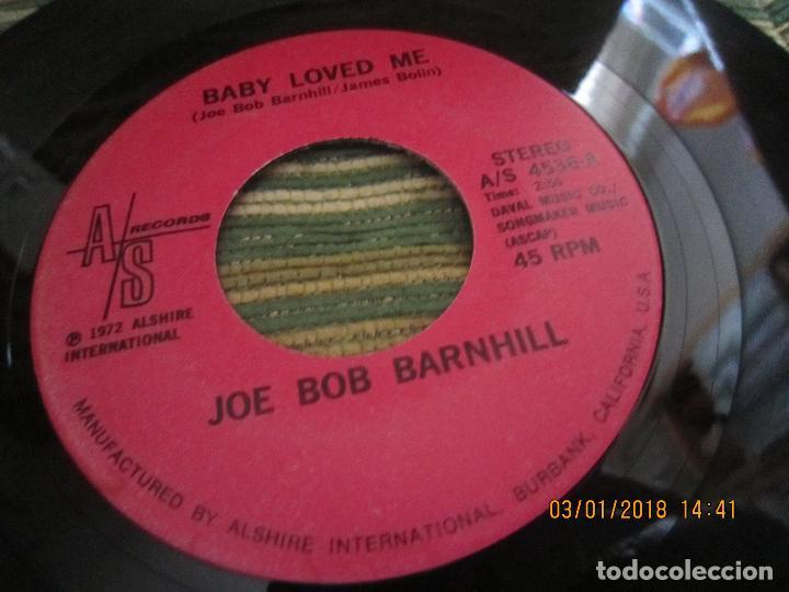 JOE BOB BARNHILL - BABY LOVED ME / COUNTRY MUSIC MAN - SINGLE - ORIGINAL USA A/S 1972 STEREO (Música - Discos - Singles Vinilo - Country y Folk)