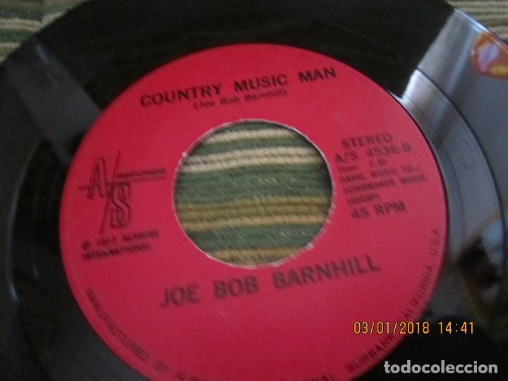 Discos de vinilo: JOE BOB BARNHILL - BABY LOVED ME / COUNTRY MUSIC MAN - SINGLE - ORIGINAL USA A/S 1972 STEREO - Foto 4 - 108245655